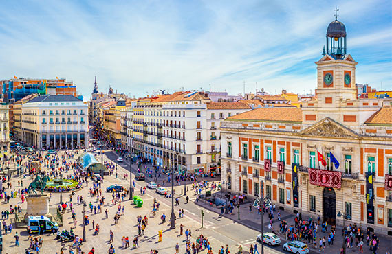 The centre of Madrid: 15 minutes by car